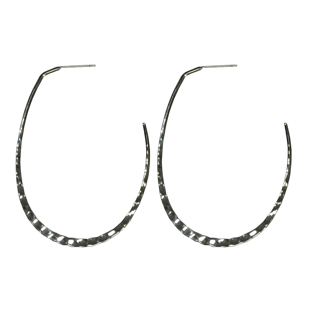 Silver Shiny Hoop Earrings