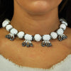 White & Silver Crystal Necklace