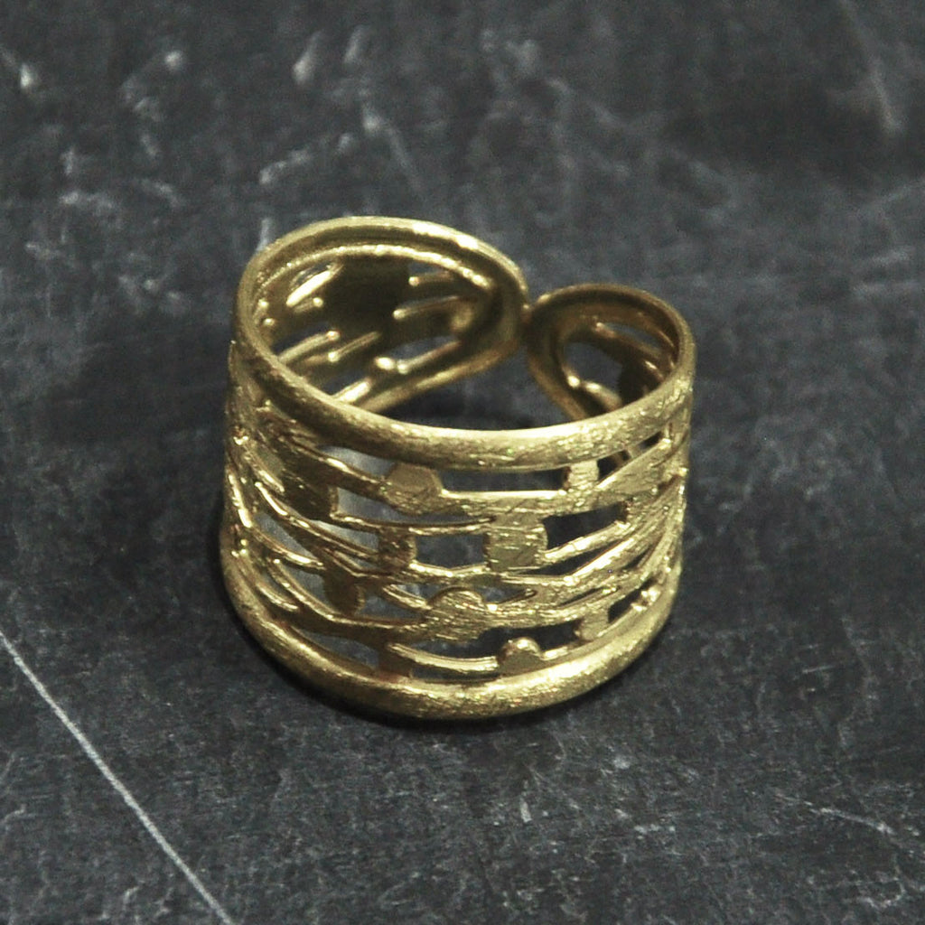 Scratched Gold Ring