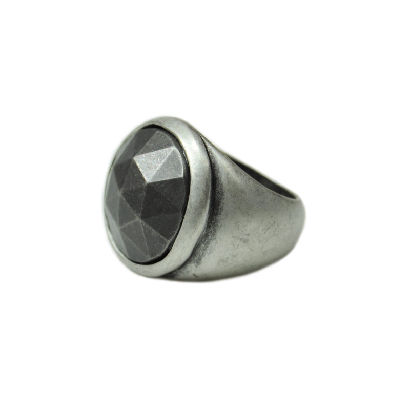 Silver & Gun Metal Ring