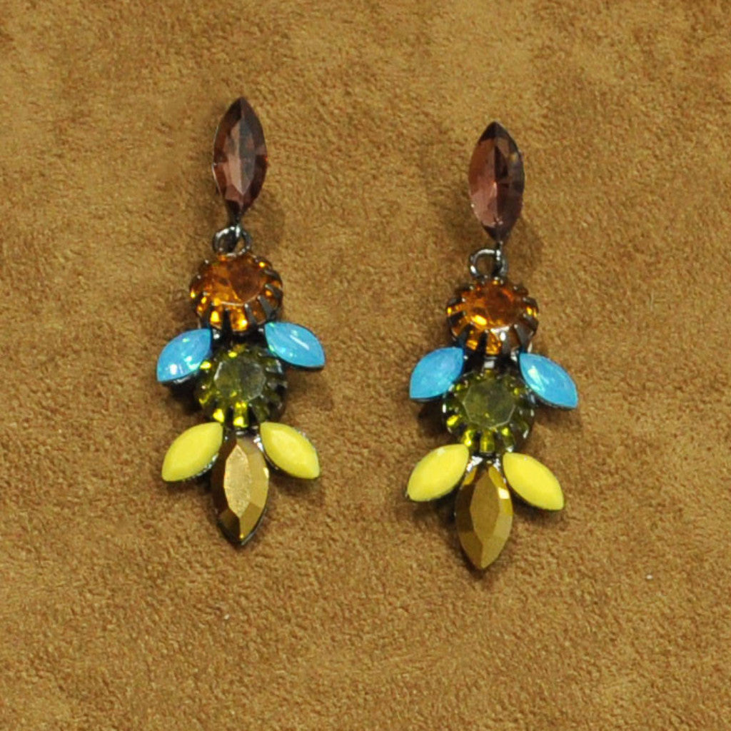 Multicolor Crystals Earrings
