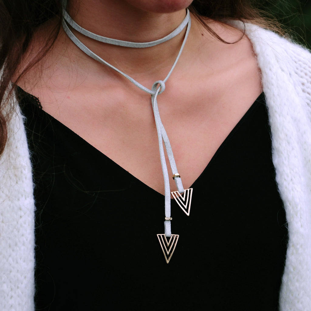 Swede Necklace w/ Golden Triangles