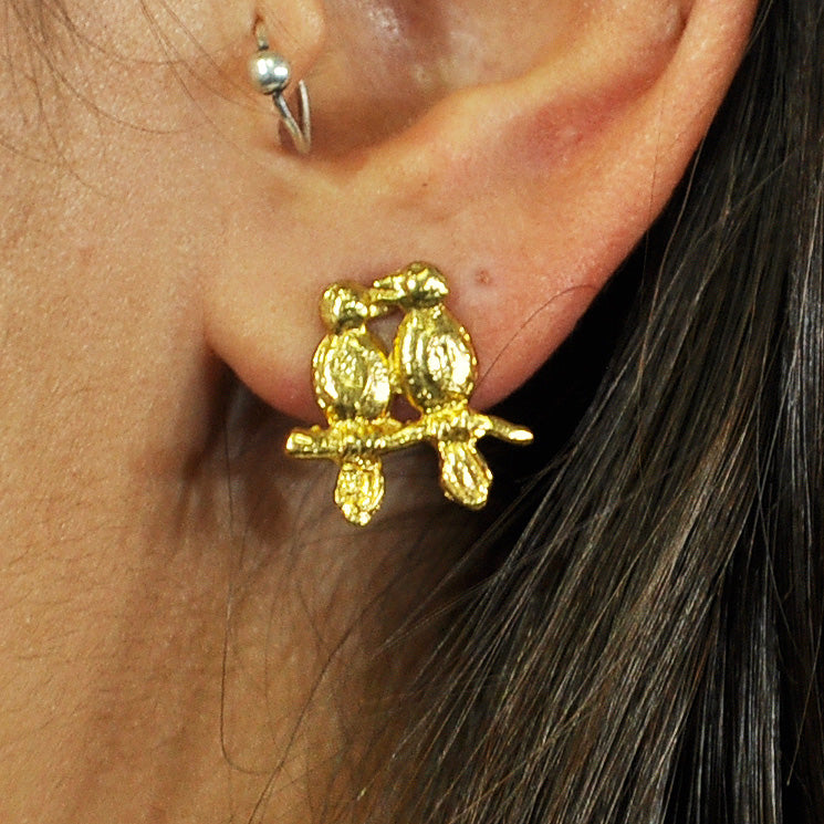 Golden Bird Earrings
