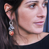 Multicolor & Silver Earrings