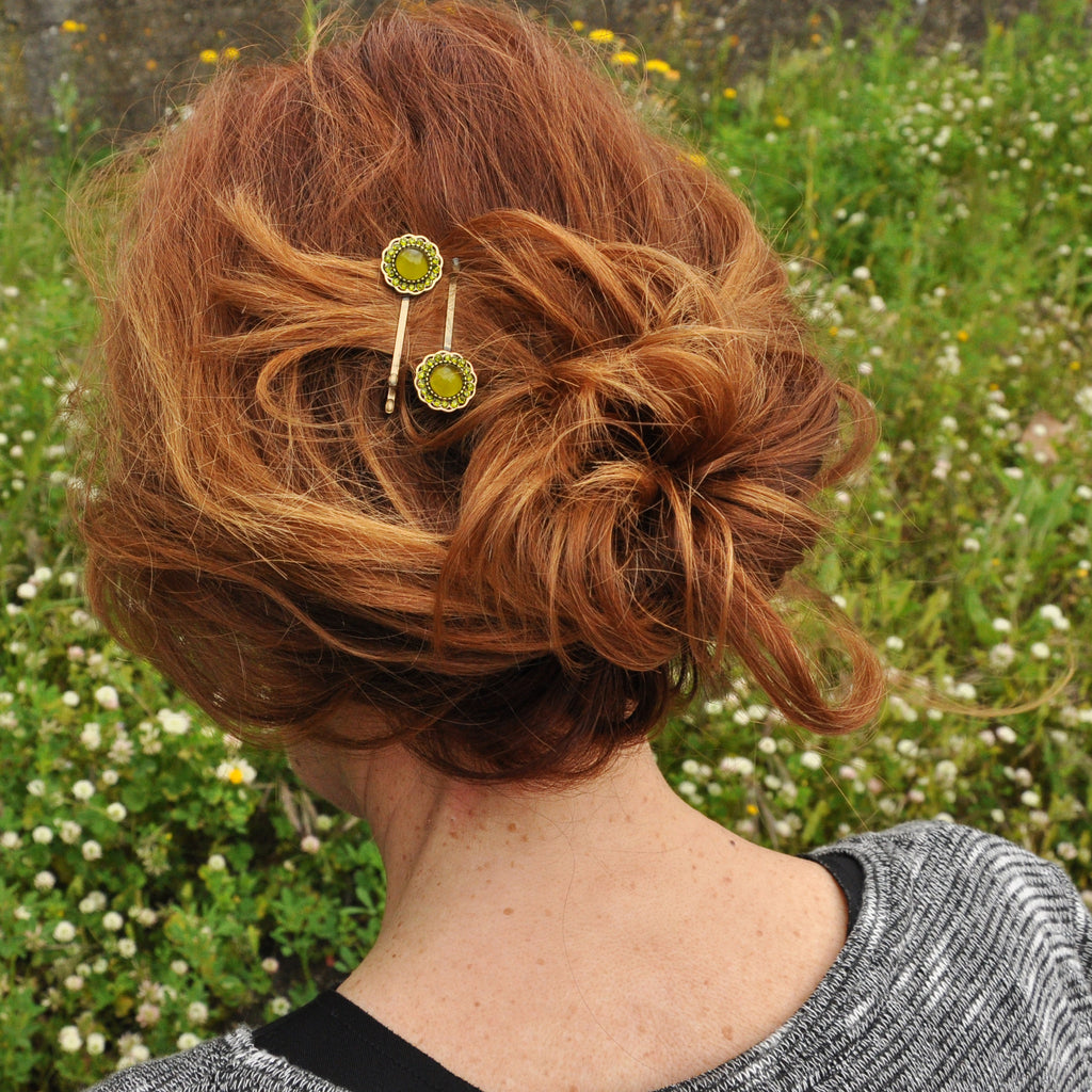 Green Hairclip