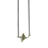 Silver & Gold Necklace with Manta Ray Pendant
