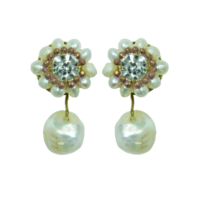 Pearls & Crystal Earrings