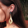 Golden Earrings w/ Black Detail