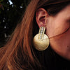 Golden Earrings w/ Silver Detail