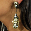 Golden Crystals Earrings