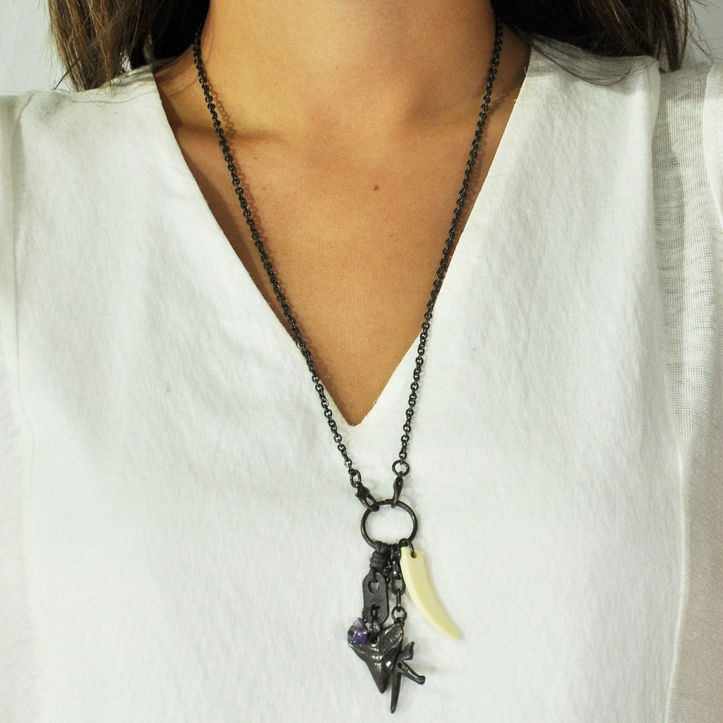 Black Necklace w/ Pendants