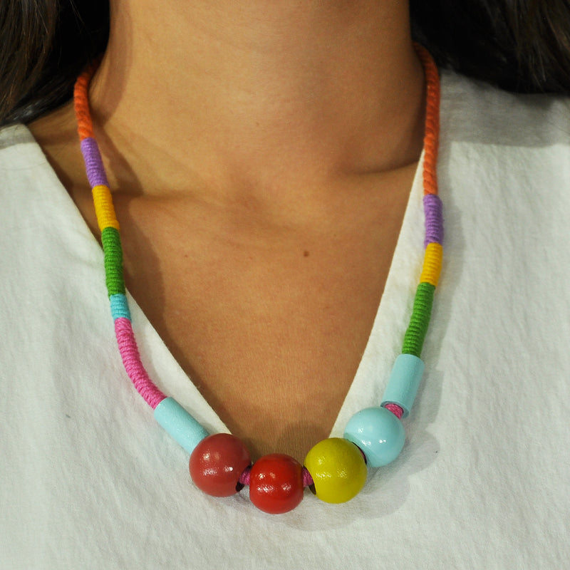Multicolored Cloth Necklace