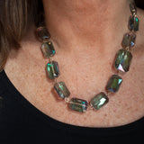 Multifaceted Glass Necklace