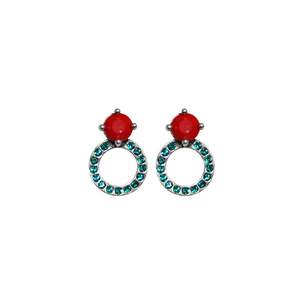 Red & Green Crystals Earrings