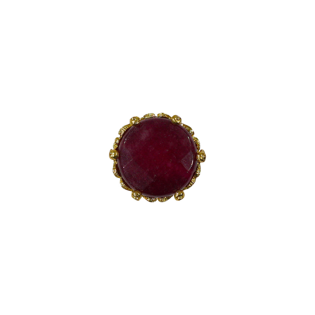 Golden Ring w/ Burgundy Stone