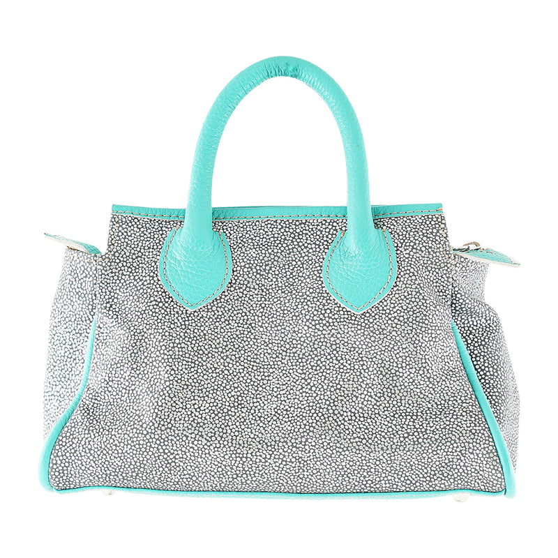 Blue & Grey Leather Bag