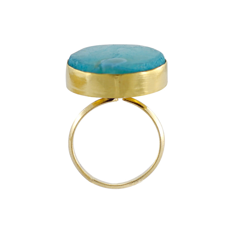 Golden Ring w/ Blue Stone