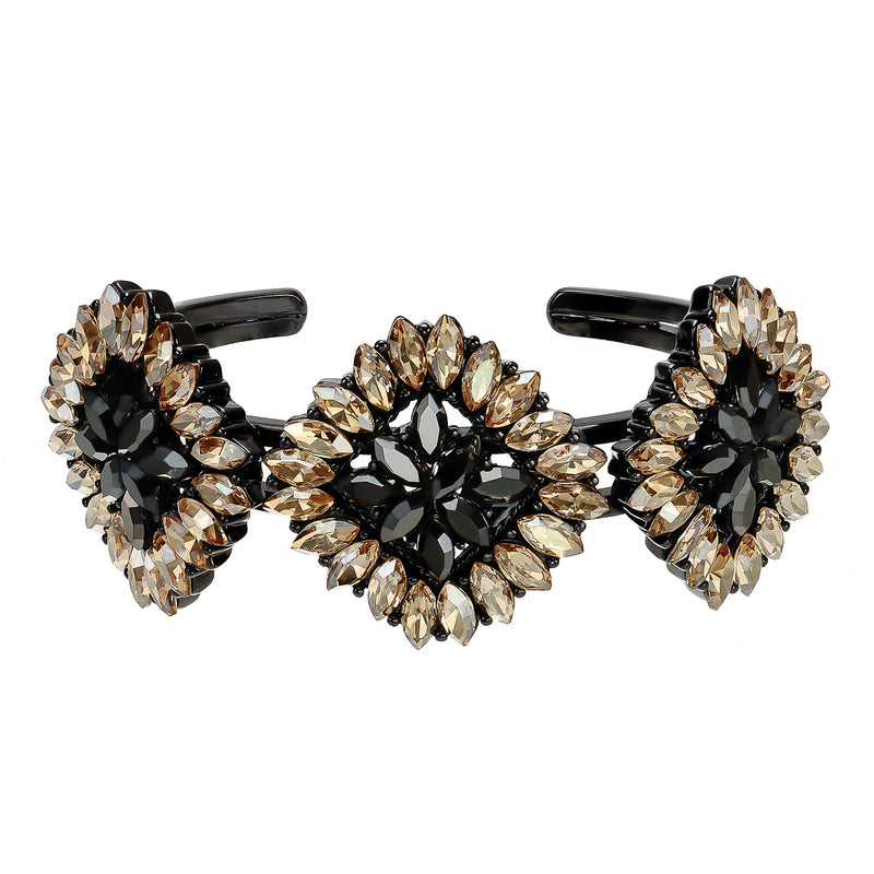 Yellow & Black Crystal Bracelet