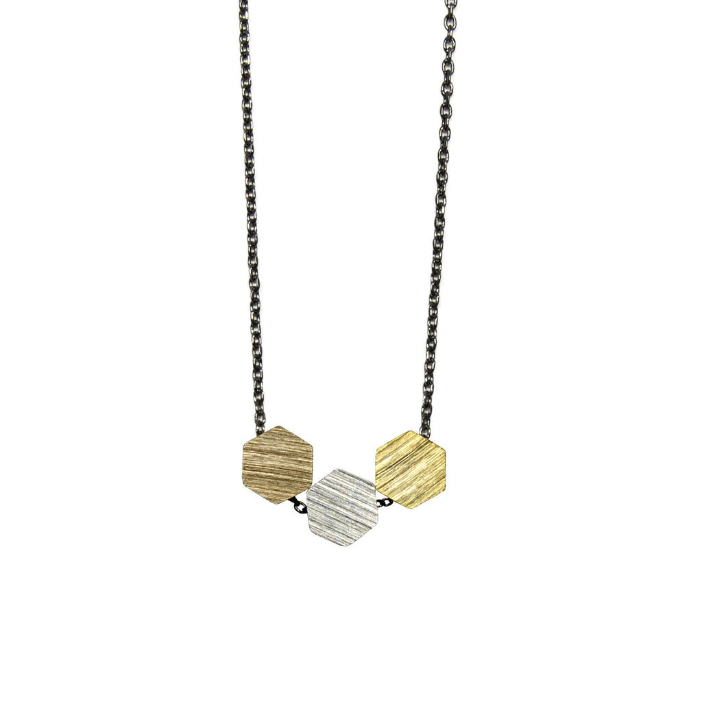 Necklace with Big Hexagon