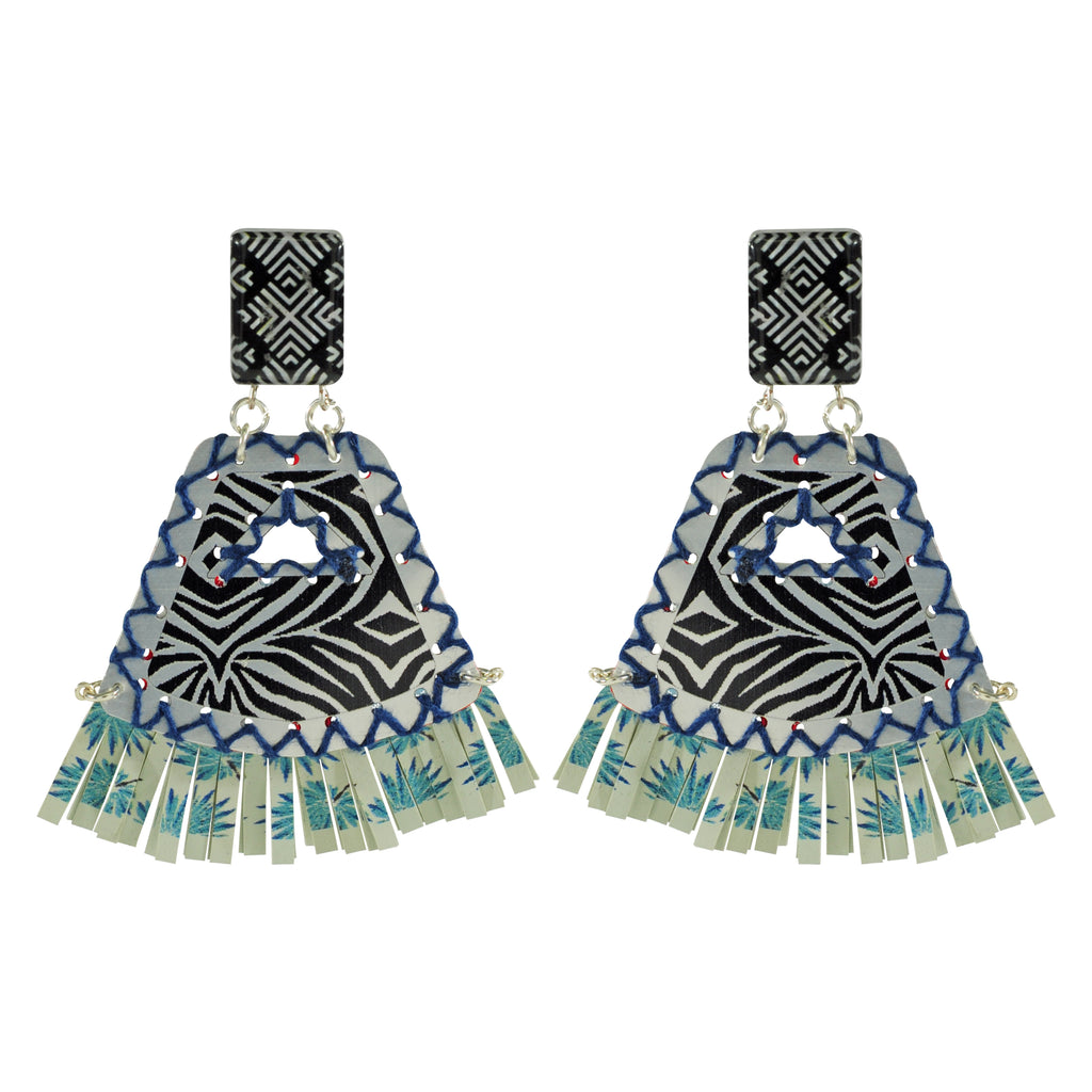 Patterned Metal Earrings