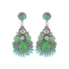 Green & Blue Crystal Earrings