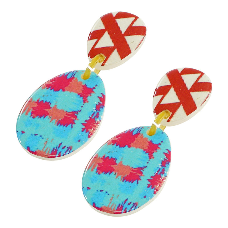 Resin Earrings w/ Patterns