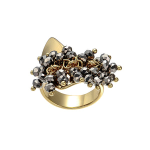Golden Ring w/ Crystals