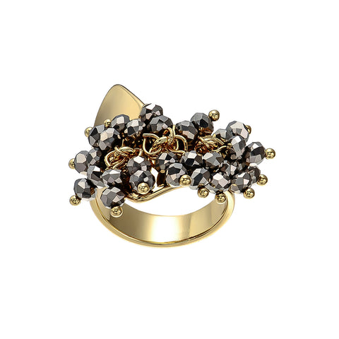 Silver Ring w/ Crystals