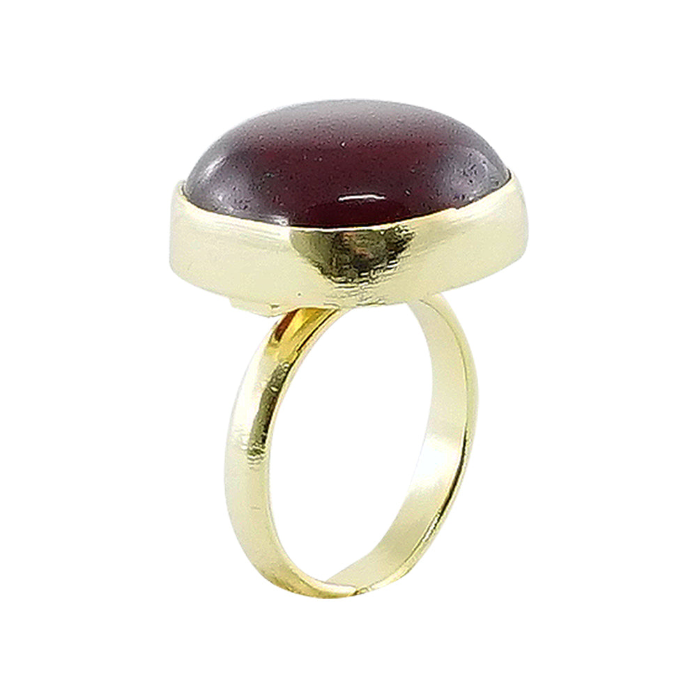 Golden Ring w/ Red Stone