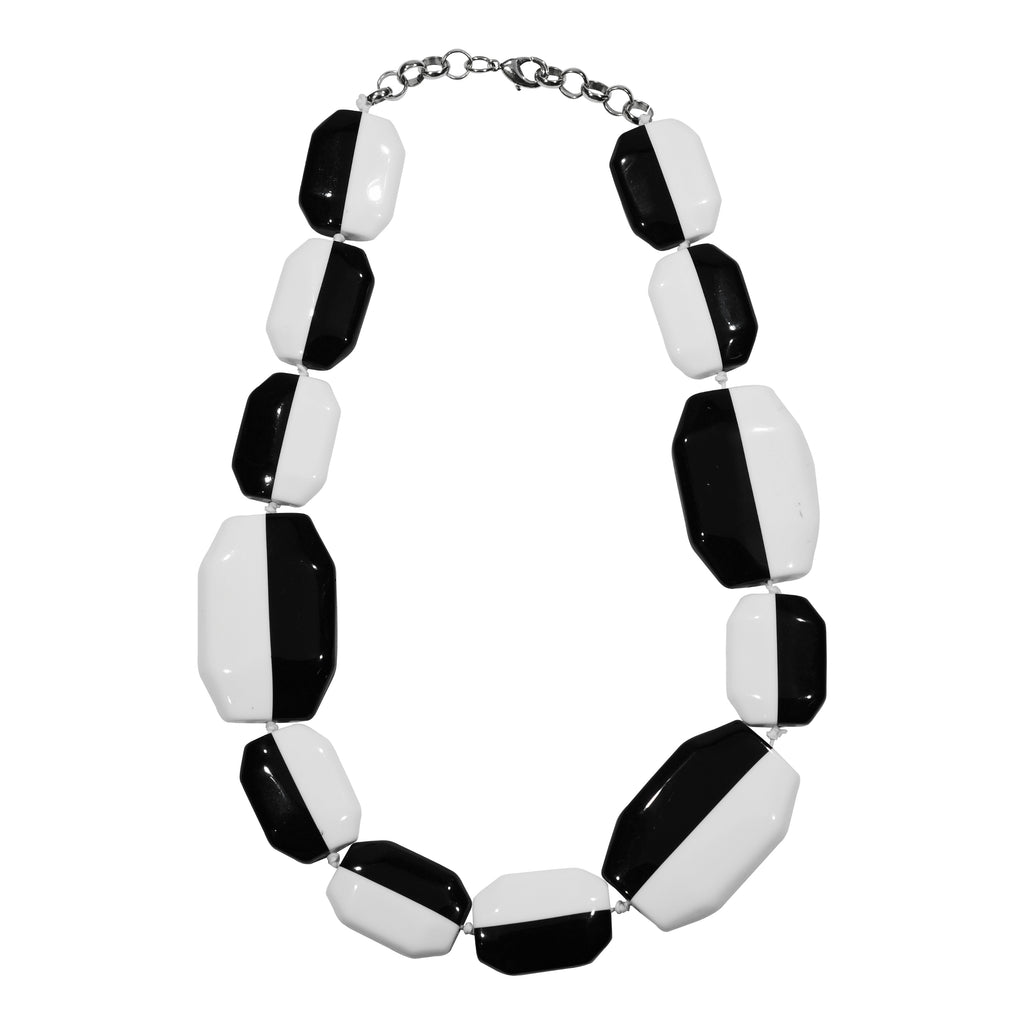 Black & White Resin Necklace