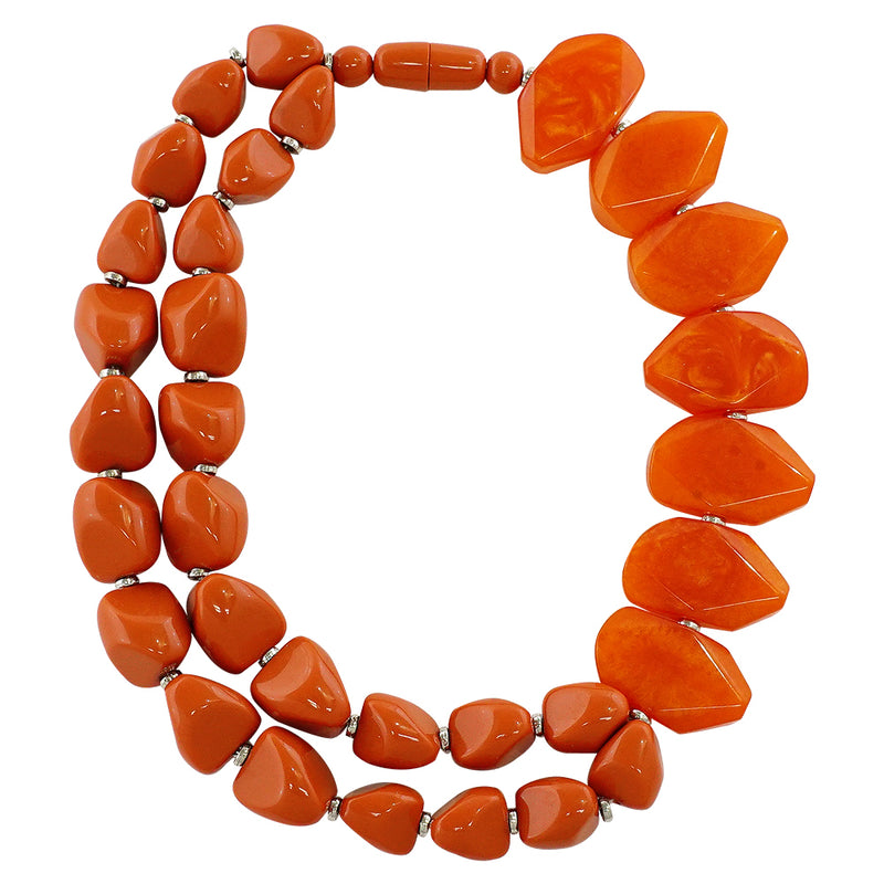 Orange Resin Necklace