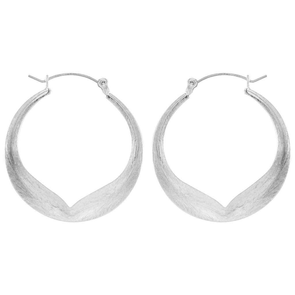Silver Plated Hoops