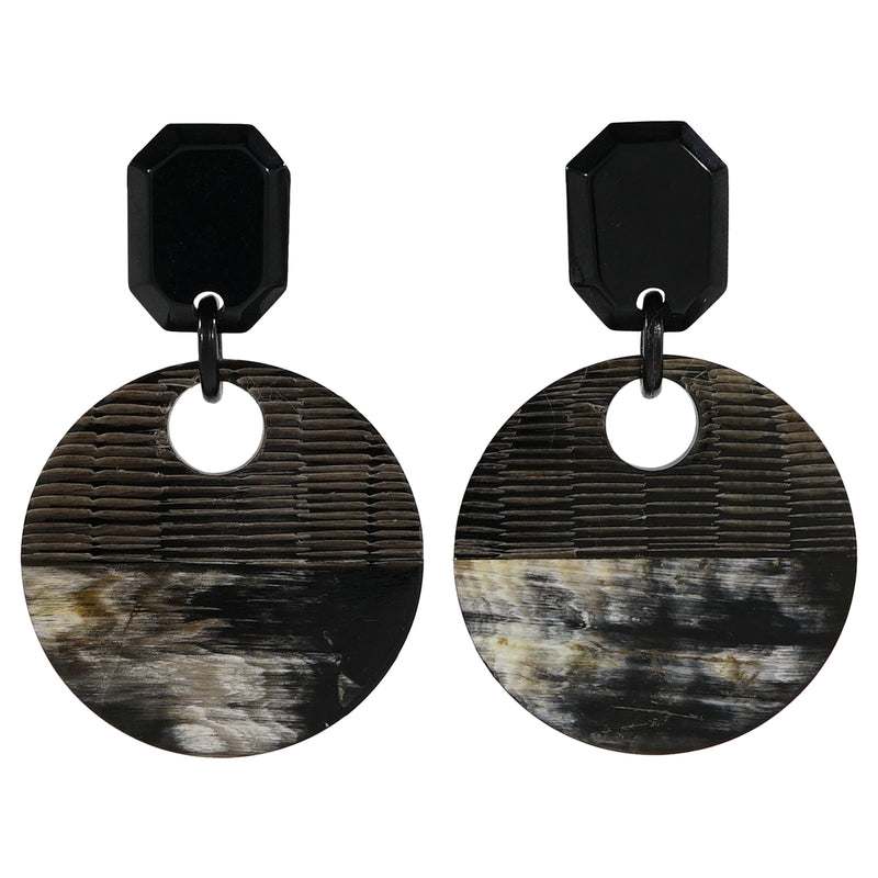 Dark Horn Earrings