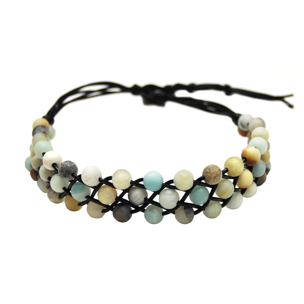 Black Choker with Multicolor Stones