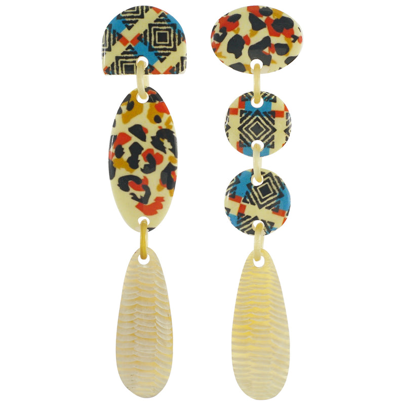 Horn Earrings w/ Patterns
