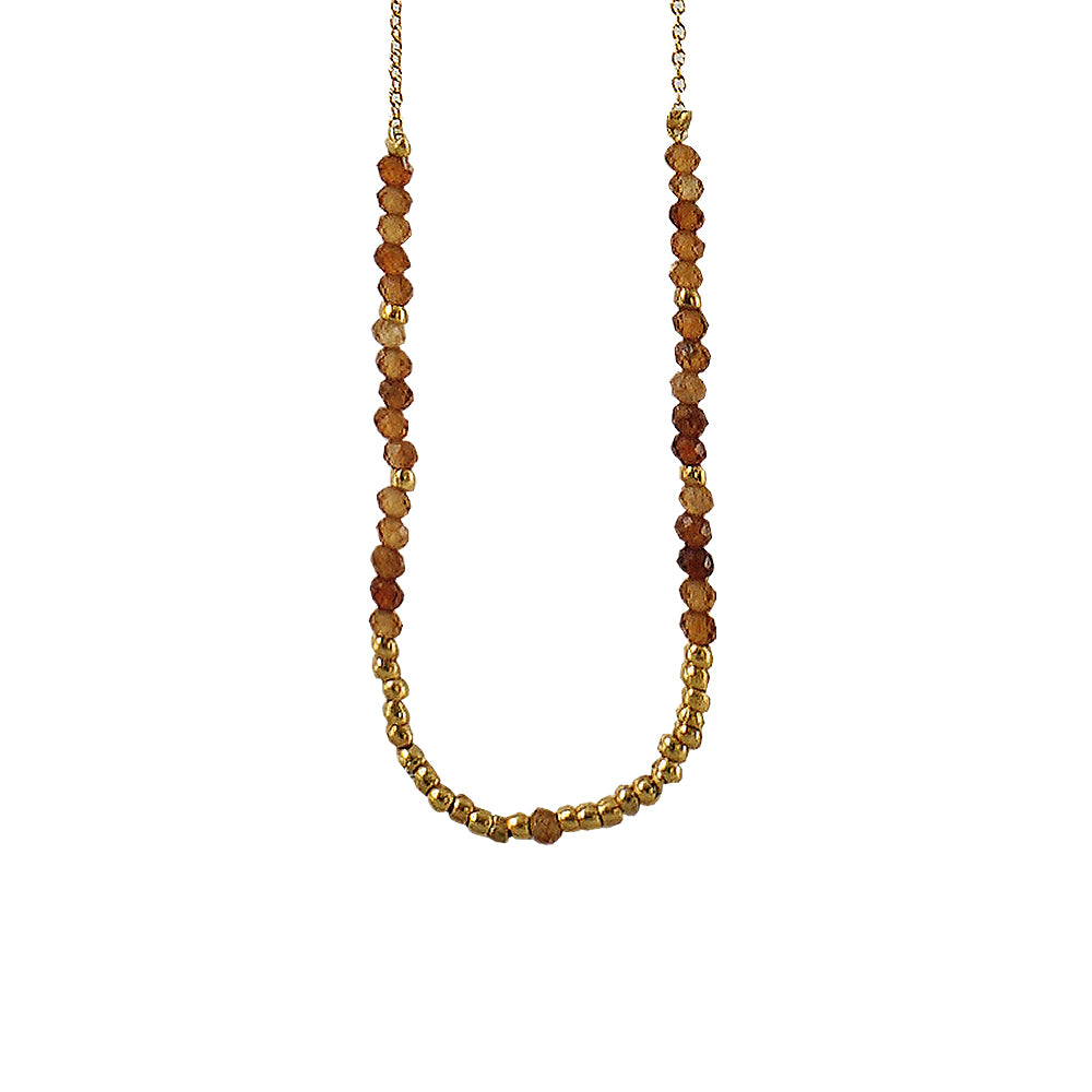 Golden Necklace w/ Brown & Golden Details