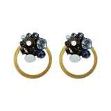 Multicolor Crystal & Metal Earrings