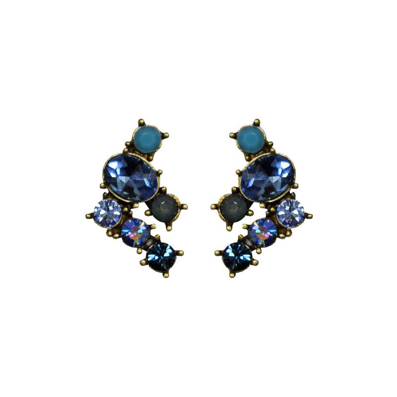 Blue Crystals Earrings