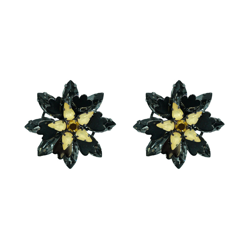 Black & Yellow Crystal Earrings