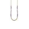 Golden Necklace w/ Purple & Golden Details