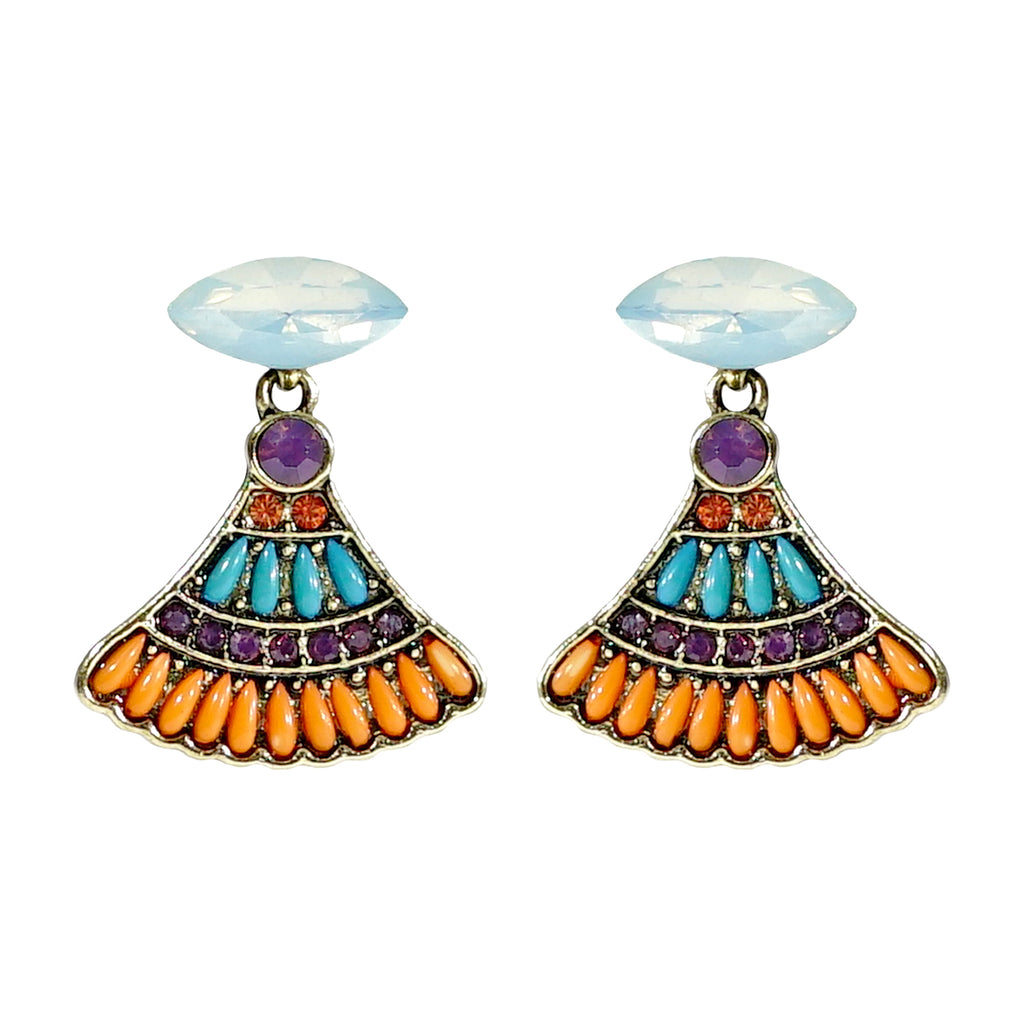 Multicolored Crystal Earrings