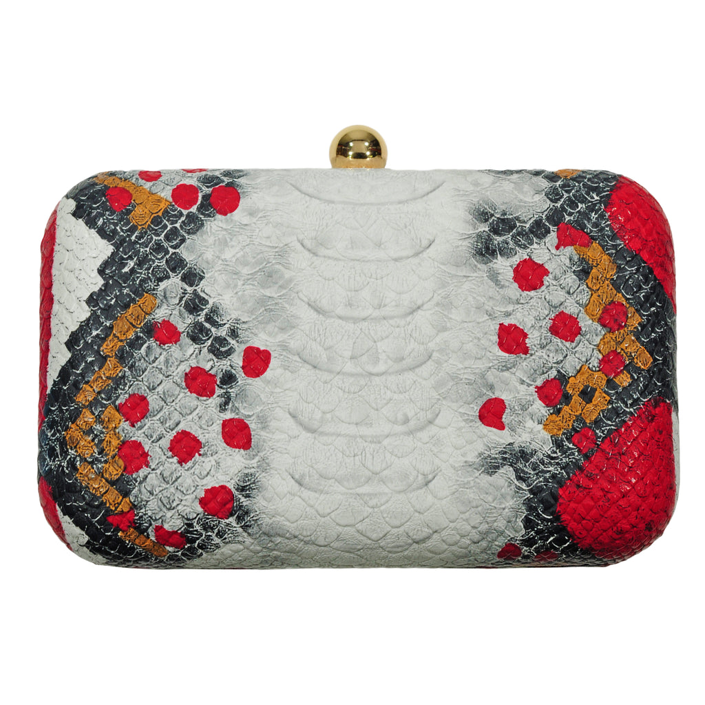 White & Red Snake Clutch