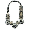 Black and White Resin Necklace