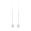 Scratched Silver Earring w/ Cultured Pearl
