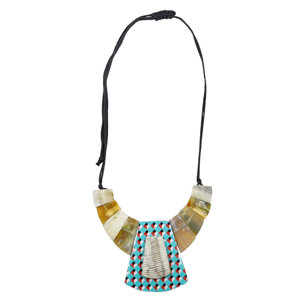 Horn Necklace w/ Pattern