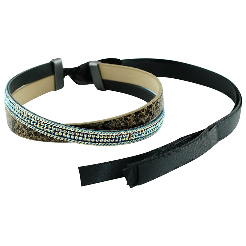Multicolored Crystal Choker w/ Pattern