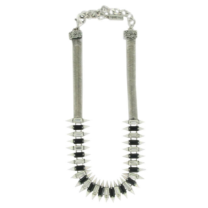 Silver & Crystals Necklace