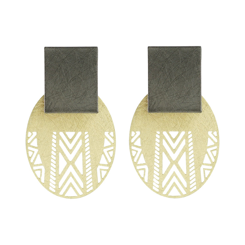 Golden & Gunmetal Earrings