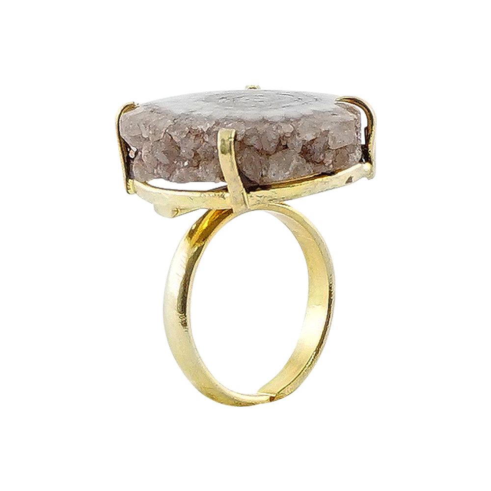 Golden Ring w/ Brown Stone