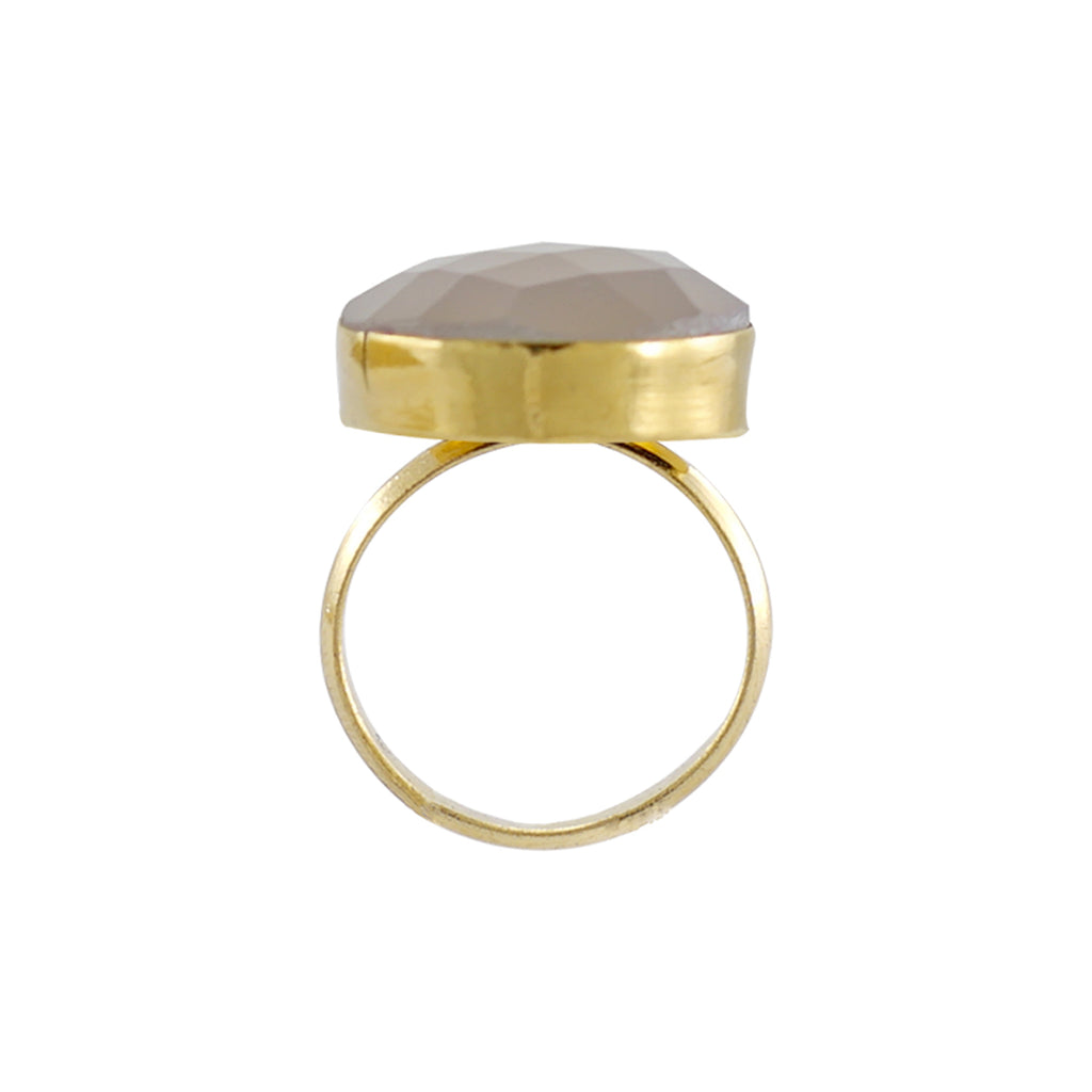 Golden Ring w/ Light Grey Stone